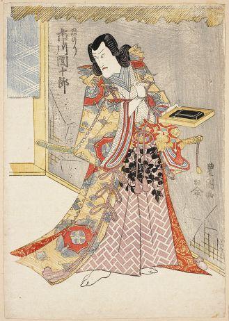 Ichikawa Danjuro V jako Tadanori , lata 1810-1820