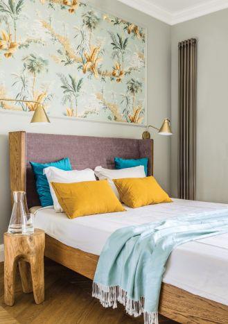 nowoczesna sypialnia tapety