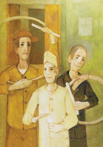 Kiejstut Bereźnicki, Chłopcy z kołami , 2002 r., Rempex.