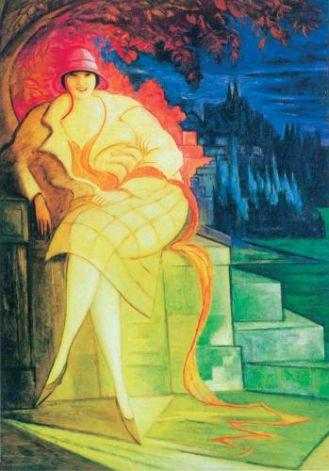 Leon Chwistek Portret żony , ok. 1925 r., Muzeum Narodowe we Wrocławiu.