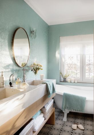styl shabby chic łazienka