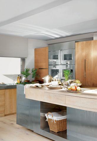 styl chalet kuchnia z drewnem