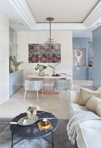 pastelowe wnętrza w stylu glamour