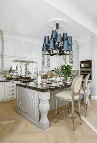 salon z kuchnią w stylu nowojorskim