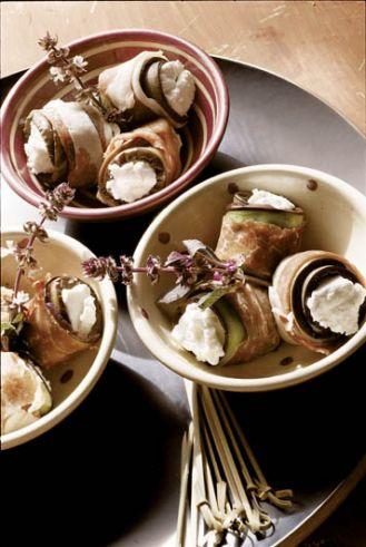 Roladki z bakłażana z szynką parmeńską