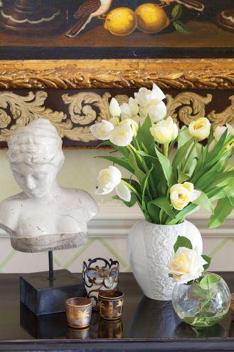 bukiety z białych tulipanów
