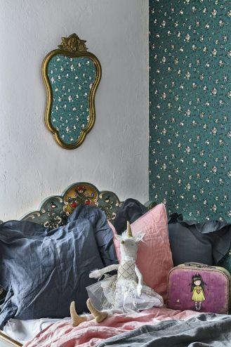 pokój dla dziewczynki zielono różowy