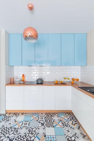 fronty mebli kuchennych w dwóch kolorach