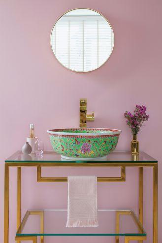 kolorowe umywalki