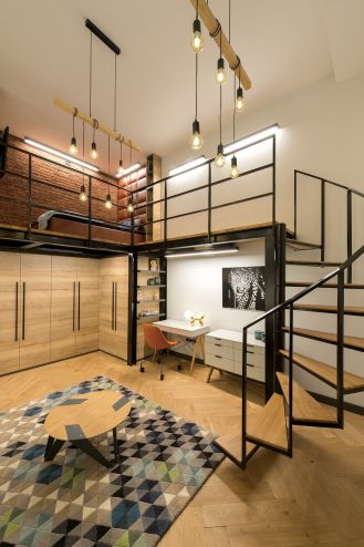 nowoczesne mieszkania z antresolą