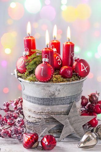 świece adwentowe - pomysły na stroiki