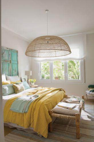 styl shabby chic sypialnia