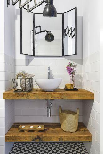 drewniana szafka pod umywalkę