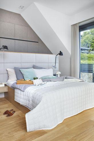 nowoczesna sypialnia na poddaszu zdjęcia