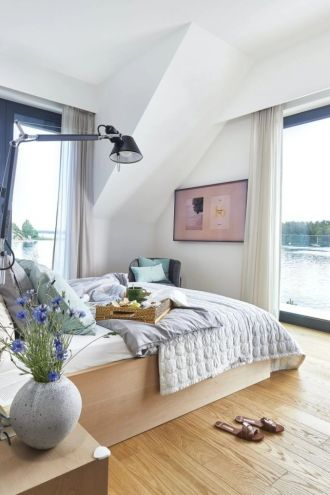 nowoczesna sypialnia na poddaszu