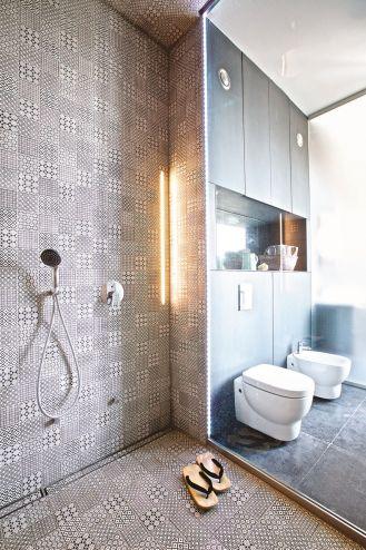 styl nowoczesny szara łazienka