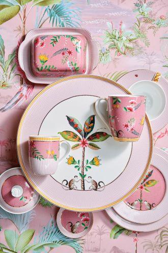 różowa zastawa stołowa