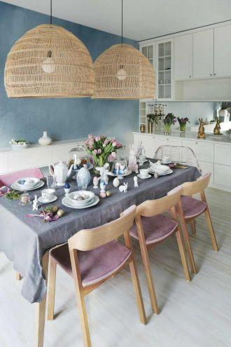 Pastelowa Wielkanoc – proste i stylowe ozdoby wielkanocne w nowoczesnym wnętrzu