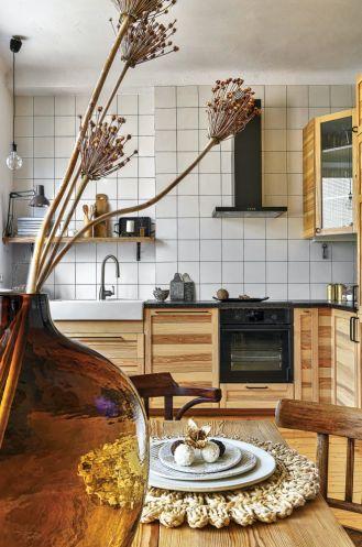 szafki kuchenne w kolorze drewna