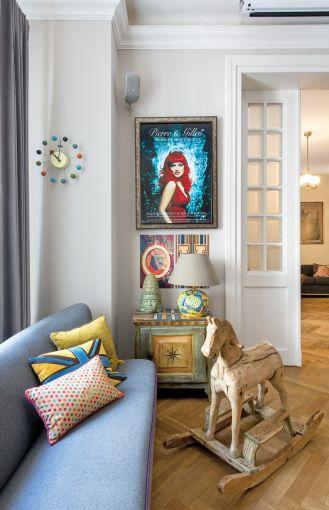dekoracje vintage w nowoczesnym salonie