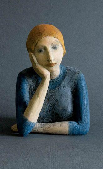Rzeźba Sylwi Żebrowskiej. Rzeźby zadumane
