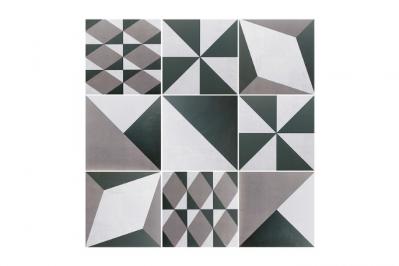 płytki we wzory geometryczne