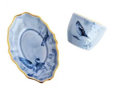 porcelana filiżanka ze spodkiem talerzykiem