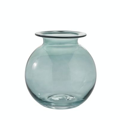 wazon szklany niebieski