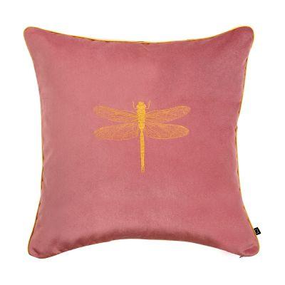 różowa poduszka z haftem