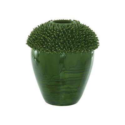 zielony wazon ceramiczny