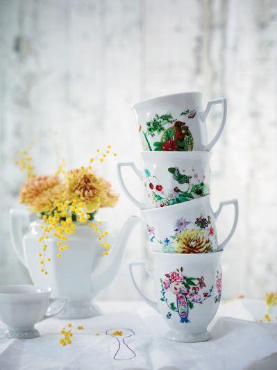 porcelana w kwiaty