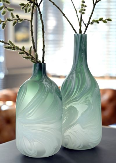 wazon szklany zielony