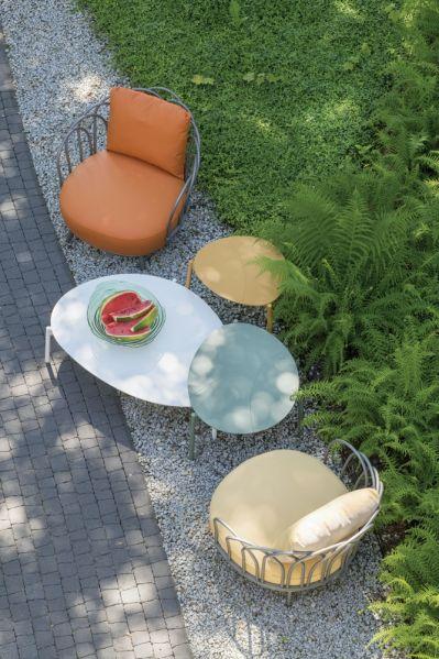 kącik wypoczynkowy w ogrodzie nowoczesny