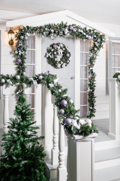 dekoracje bożonarodzeniowe na drzwi wejściowe