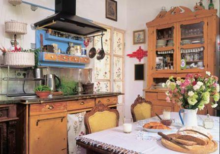 stylowe wnętrze kuchnia meble francuskie