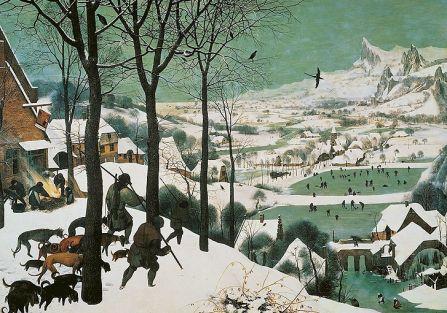 Pieter Bruegel, śnieg na obrazach