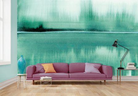 mural w domu salon