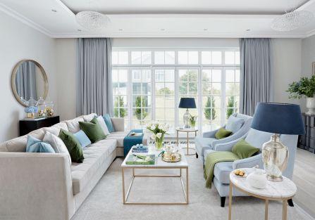 Dom gotowy na Wielkanoc – dekoracje w kolorach złota, zieleni i błękitu