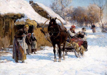 Alfred Wierusz-Kowalski, Słoneczny zimowy dzień , cw 95 tys. zł, OSTOYA