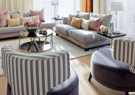 w stylu art deco salon fotele