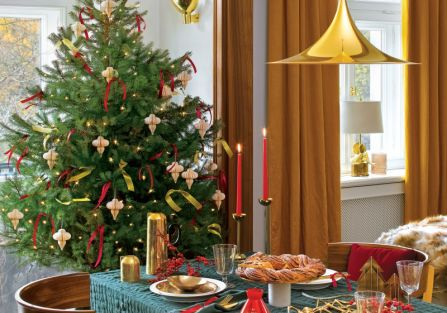 dekoracje bożonarodzeniowe czerwień i złoto