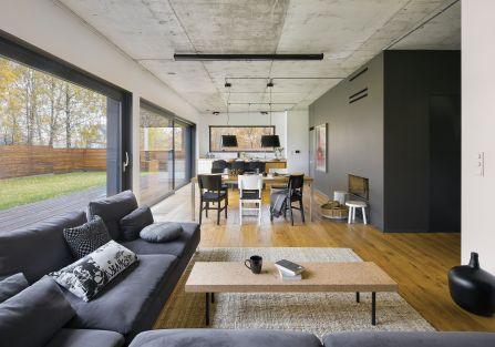 nowoczesne wnętrze salon przestrzeń