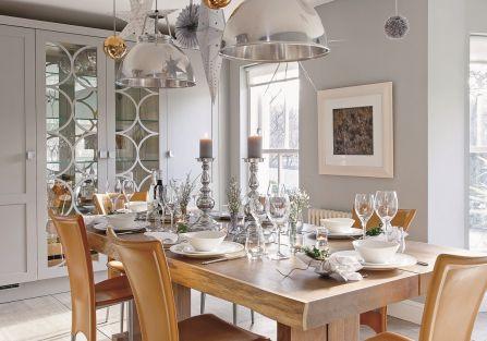 nowoczesne wnętrze jadalnia lampy