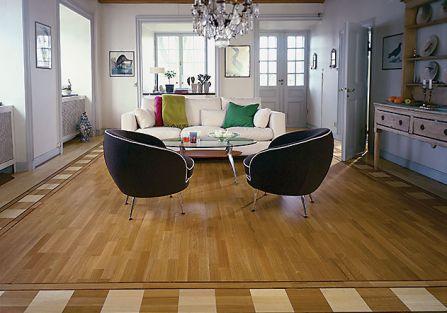 Dowód na to, jak nowocześnie może wyglądać podłoga z tego drewna. TARKETT
