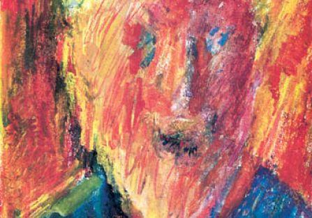 Jerzy Panek, Autoportret w żółtym kaszkiecie , 1999 r., Rempex