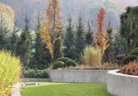 Jesienny ogród w Beskidach - zdjęcia aranżacji
