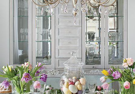 Wielkanocne dekoracje wnętrz w stylu francuskim