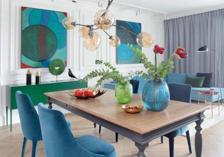 Kolor i styl: apartament pied-à-terre