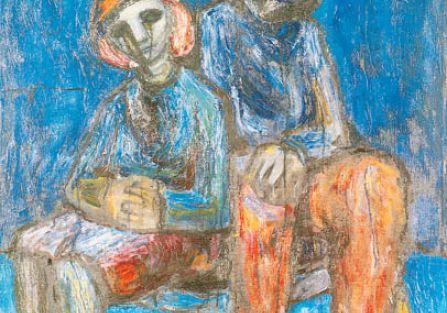 Kompozycja z dziećmi , Waldemar Cwenarski, 1950 r., MUZEUM NARODOWE WE WROCŁAWIU