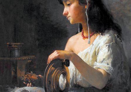 Kopciuszek , 1884 r. Anna Bilińska-Bohdanowicz